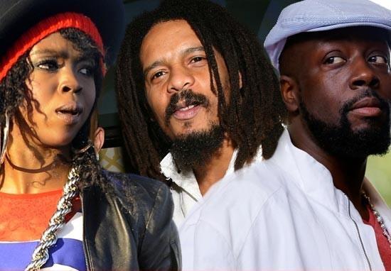 Lauryn Hill, Rohan Hill & Wyclef Jean