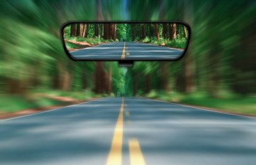 Rear-view Mirror, Looking back, Introspection, 2013, Review. Why are objects closer in the mirror? Staring through the rear view mirror. 2Pac songs. Mirror mirror on the wall. 2013 news.