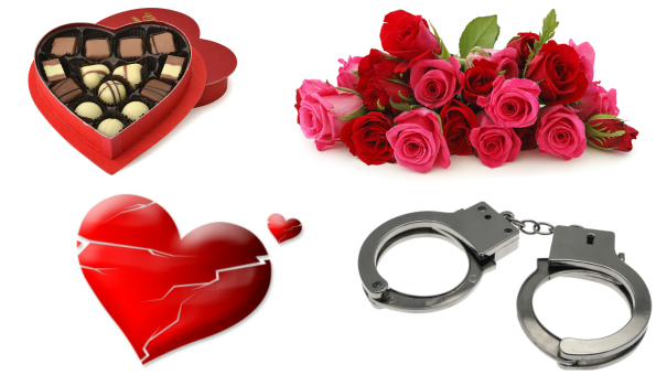 Chocolate, Roses, Heartbreak and Handcuffs: A Valentine's Day Story,Valentine's Day, Valentine's Day from hell, The worst valentines day, the worst valentines day gifts, cheating on valentines day,