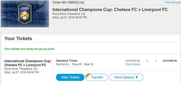 ICC Ticket Chelsea Liverpool