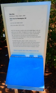 Sign at Wish Tree