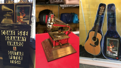 Peter Tosh Grammy and Guitar in Pawn Shop