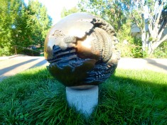 Sphere No. 6 (Sphere within a Sphere) by Arnaldo Pomodoro