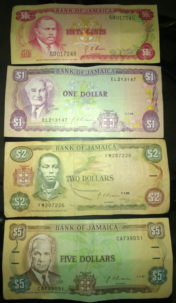 Rare Jamaican Bank Notes
