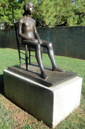 Young Girl on a Chair by Giacomo Manzu
