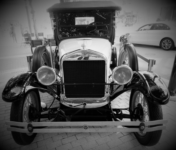 Vintage Ford Car on display at National Harbor