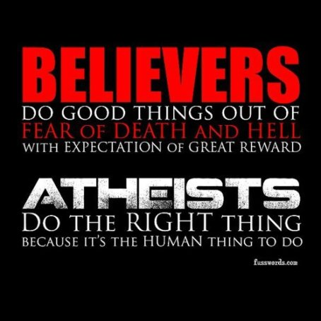Atheists vs Believers