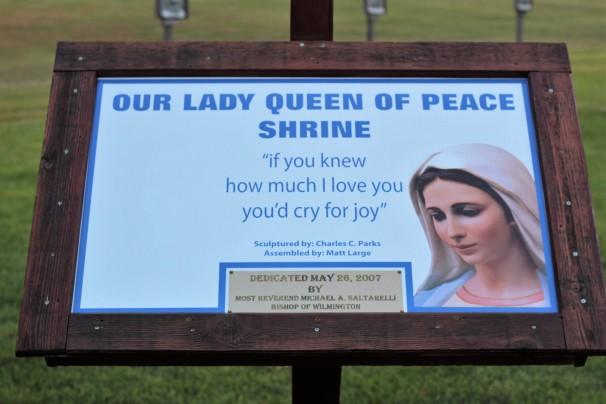 Our Lady Queen of Peace Shrine, Giant Mary Statue, Our Lady Queen of Peace Statue,