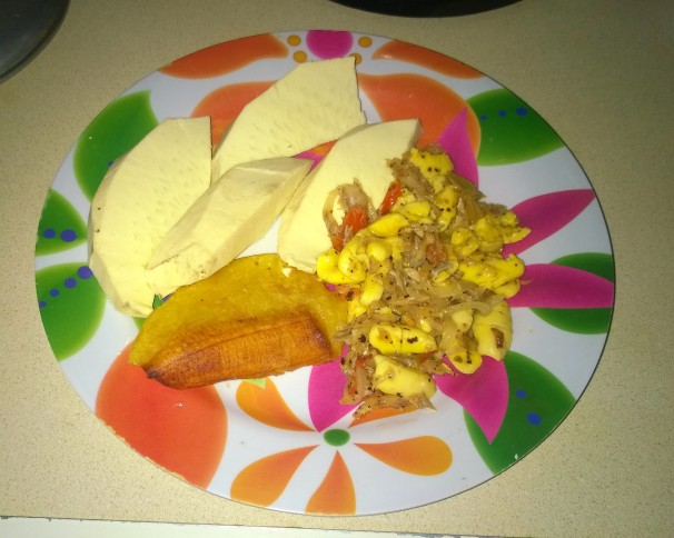 ackee-and-saltfish-roast-breadfruit-and-fry-plantain