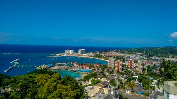 View of Ocho Rios Town from Columbus Heights - Jamaica