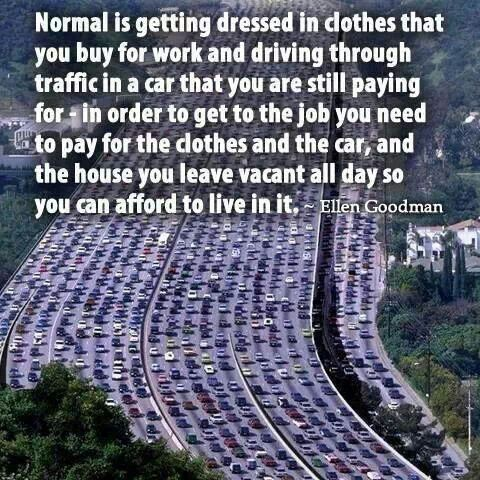 Normal life quote by Ellen Goodman