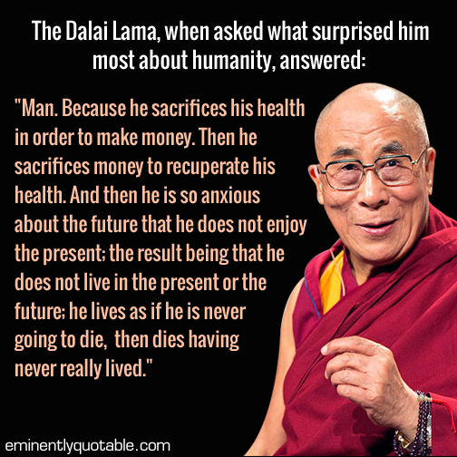 Dalai Lama quote on Humanity
