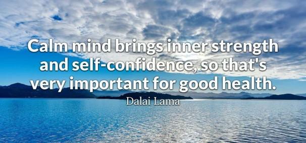 A Calm Mind Quote - Dalai Lama