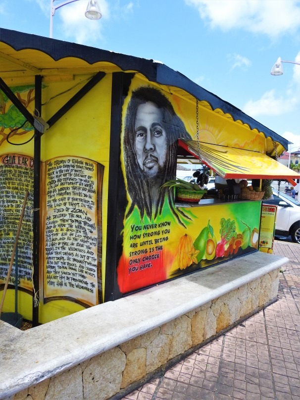 Rasta Fruits Shop in Saint Martin.