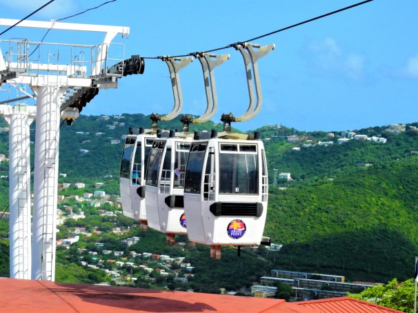Skyride at Paradise Point, St. Thomas, US Virgin Islands.
