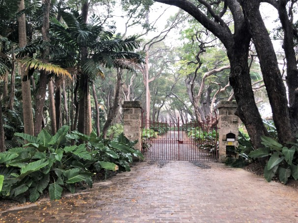 The entrance to St. Nicholas Abbey, St. Peter, Barbados