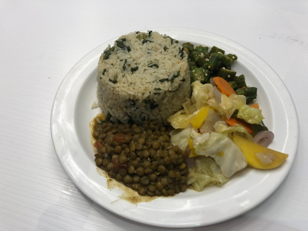 My Barbadian vegan lunch