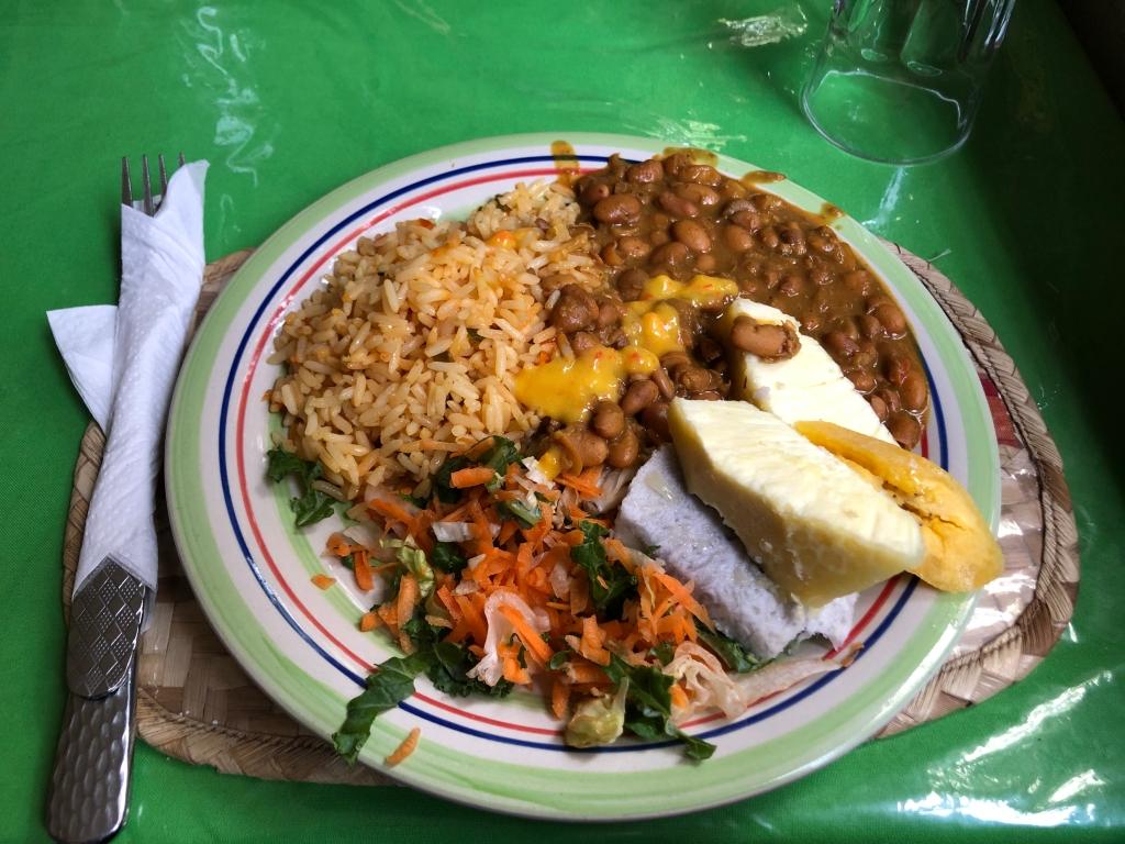 A vegan St. Lucian meal