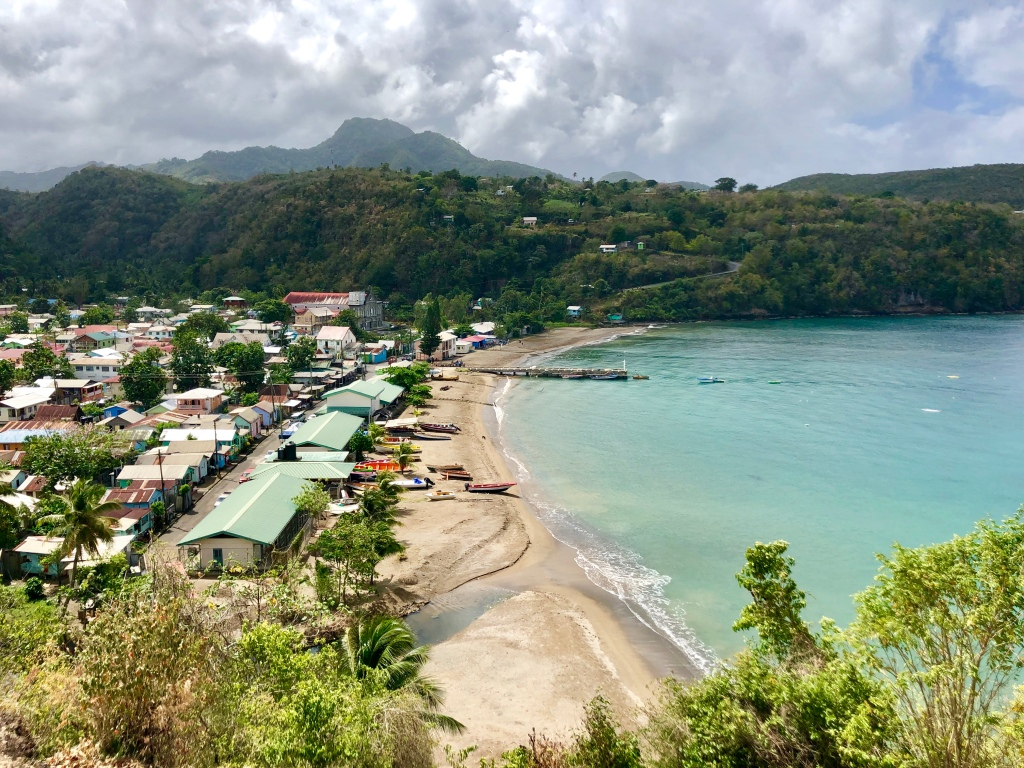 A view of Anse La Raye in St. Lucia