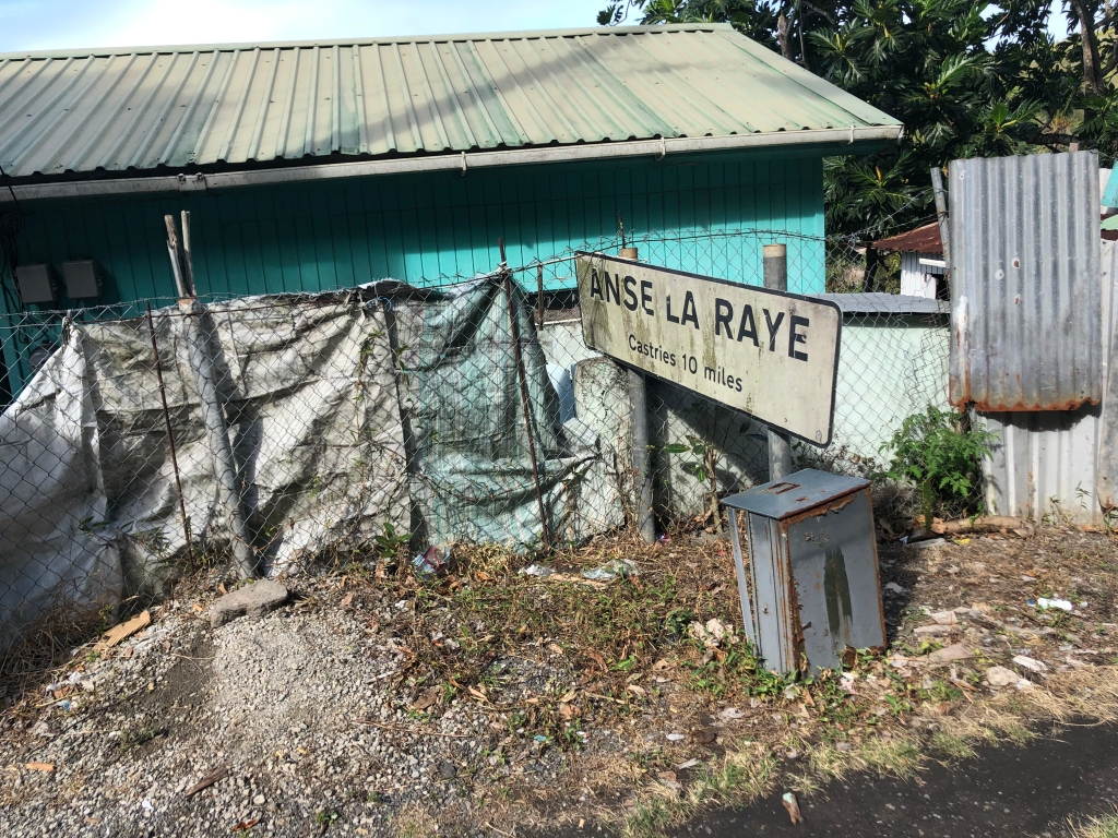 Anse La Raye sign in St. Lucia