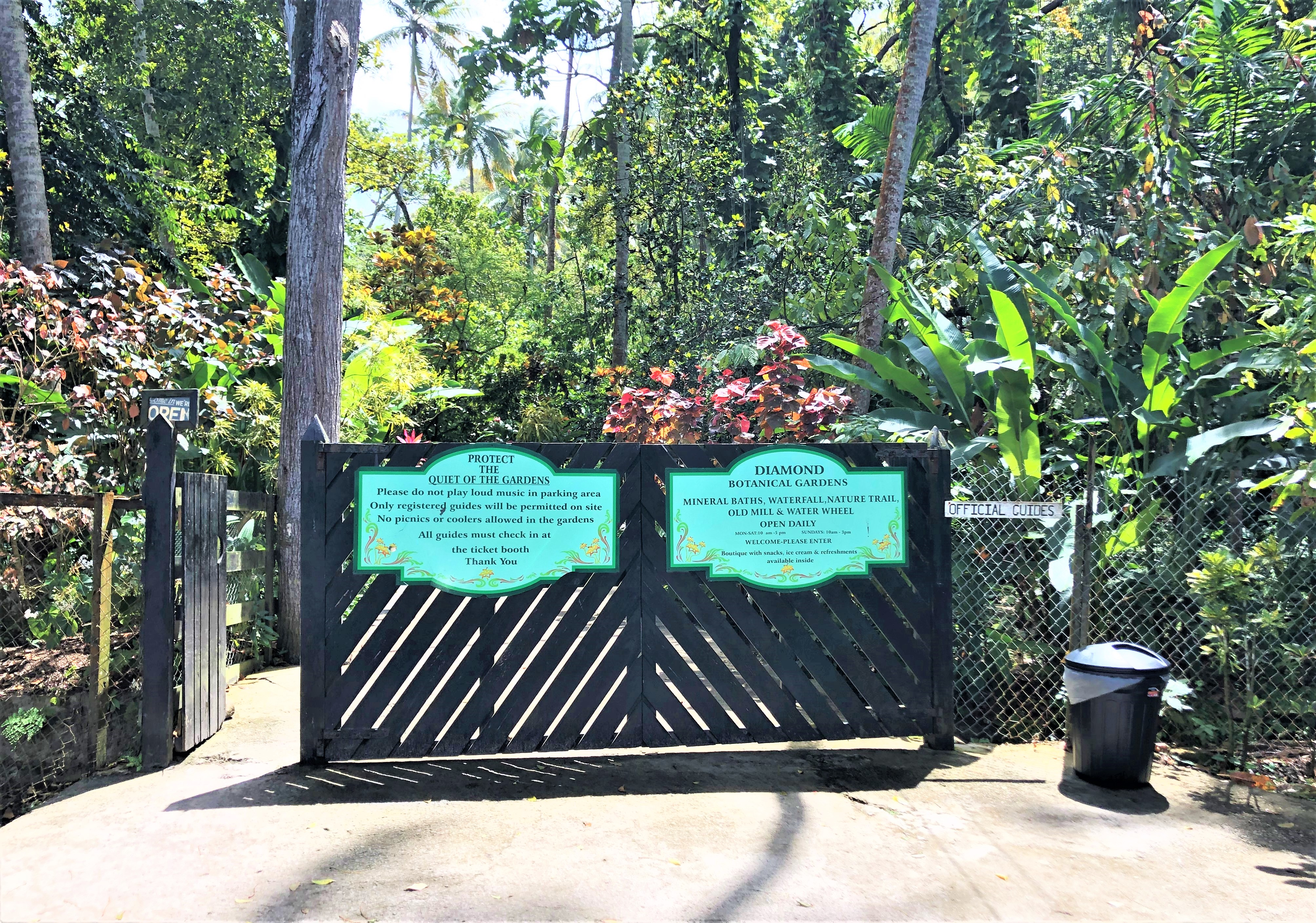 Diamond Botanical Gardens in St. Lucia