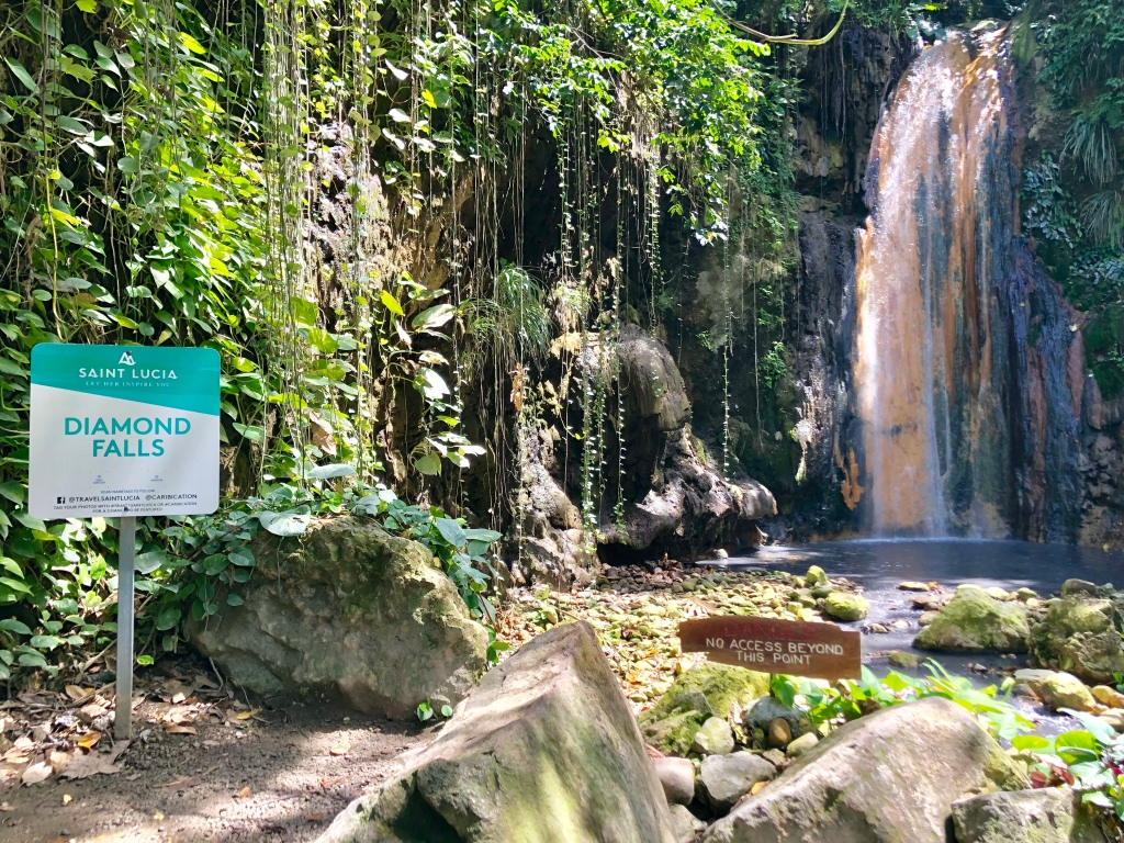 Diamond Falls in St. Lucia