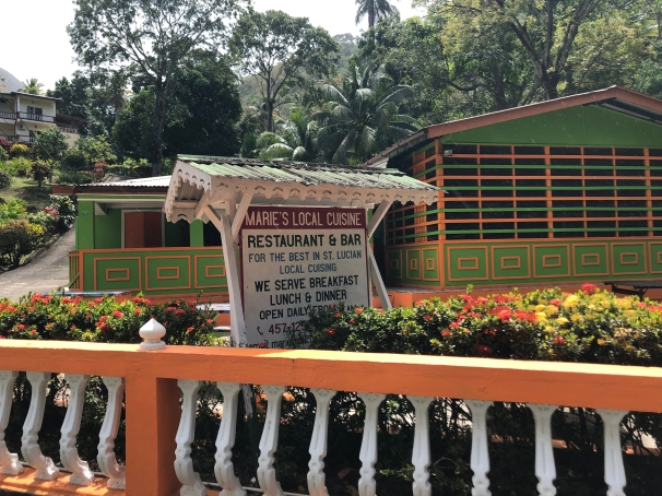 Marie's Local Cuisine Restaurant and Bar in Soufriere, St. Lucia.