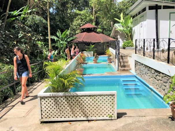 Mineral Baths at the Diamond Botanical Gardens in St. Lucia.