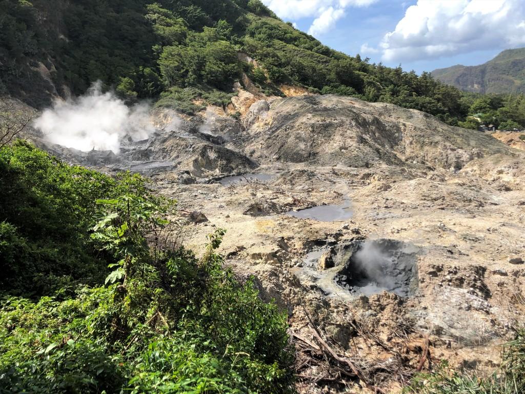Sulphur Springs Volcano in St. Lucia.