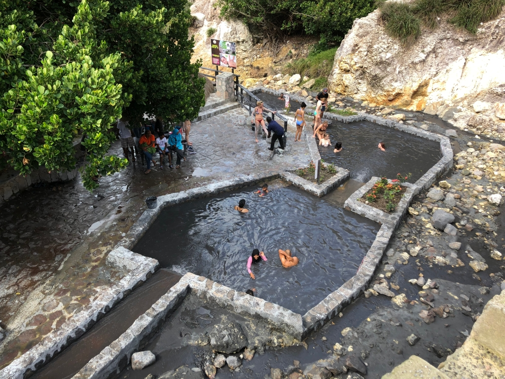 The Sulphur Springs Mud Bath in St. Lucia.